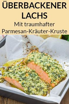 Ein Lachs Rezept aus dem Ofen, das du unbedingt probieren musst, ist diese Variante mit Parmesan Krä A salmon recipe from the oven that you absolutely must try is this variant with a Parmesan herb crust. A dreamy low carb dinner to lose weight. Healthy Dinner Recipes, Low Carb Recipes, Healthy Snacks, Snack Recipes, Healthy Eating, Simple Snacks, Janta Low Carb, Law Carb, Italian Recipes