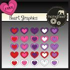 Freebie: This pack includes 45 hearts in 300dpi and png format. Happy Valentine's Day!   You will receive a .zip file containing these files. Please make su...