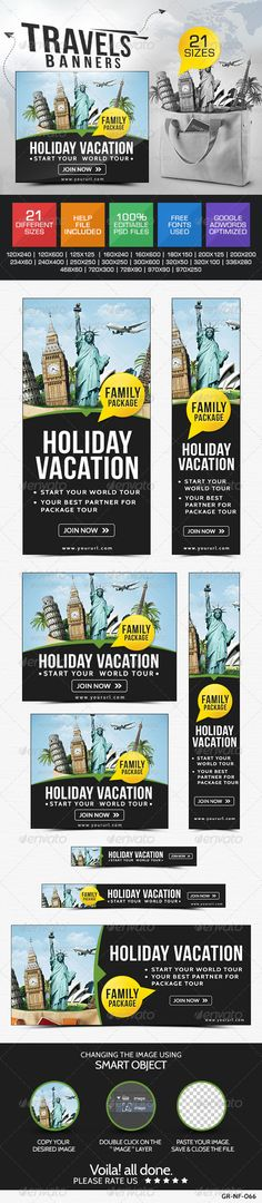 Tourism Web Banners Template PSD | Buy and Download: http://graphicriver.net/item/tourism-banners/8101186?WT.ac=category_thumb&WT.z_author=doto&ref=ksioks