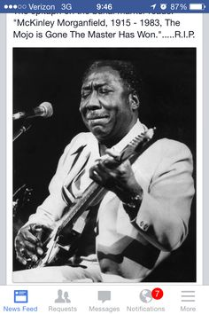 """""""Mississippi"""" Muddy Waters, one of the best bluesmen to ever live. his birth name was McKinley Morganfield Rhythm And Blues, Jazz Blues, Blues Music, Music Tones, The Band, Martin Scorsese, Eric Clapton, Illinois, Classic Blues"""