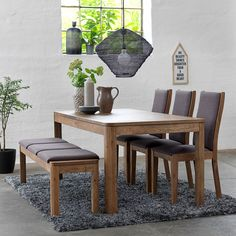 Elegant Dining Room Chairs with Casters – Home Design Dining Table Bench Seat, Dining Set With Bench, Kitchen Table Bench, Dining Table Chairs, Bench Set, Banquette Seating, Dining Furniture Sets, Dining Room Sets, Dining Room Design