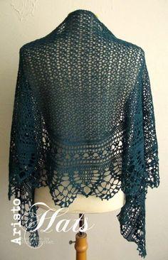 José Crochet: Haakpatroon / crochet pattern Ariane Shawl