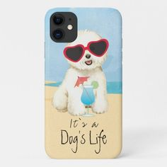 Summer Bichon Frise iPhone 11 Case   pugs funny cutest, pugs and kisses valentines, cute pugs puppies funny #secretsanta #pugsocks #pugcollections Cute Pug Puppies, Cute Pugs, All Dogs, I Love Dogs, Pug Halloween Costumes, Pug Facts, Iphone 11, Iphone Cases, Pugs And Kisses