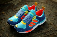 watch 394b4 69bab Adidas Zx 5000 Rspn Shoes Blue Orange Yellow Big Deals