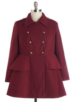 Coats - Tiering Up My Heart Coat in Plus Size