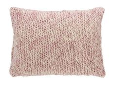 Chunky Knit Pink Decorative Pillow NEW