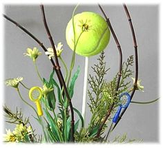 tennis floral arrangements | ... them in the center of flower arrangements. It's easy and inexpensive