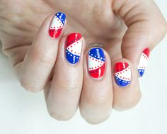 4th of July Nails for Divine Caroline - Nailed It.