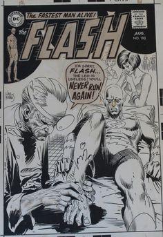 Essa capa de #JoeKubert parece uma prévia Silver Age e não grim'n'gritty daquele Elseworlds que saiu aqui em Superboy n. 5 [editora Abril, abril de 1995].  Ela é da revista #Flash n. 190, que chegou às bancas americanas em 5/6/1969.