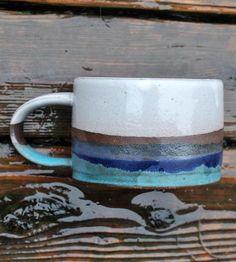 Turquoise Clay Coffee Mug
