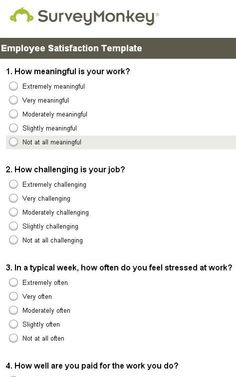 Employee Satisfaction Survey  Google Search  Infographics For