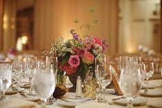 Parsonage Events at The Colony Club, Detroit, MI. JLB Photography. Peonies, roses, queen anns lace and stock