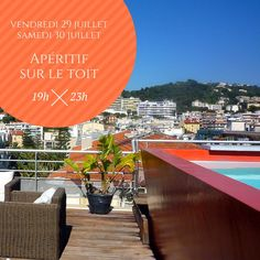 #ECOHOTELS #SWD #GREEN2STAY Hi Hôtel Ne manquez pas nos apéritifs sur le toit du Hi Hotel le week-end prochain ! Vendredi 29 et samedi 30 juillet de 19h à 23h.  Assiettes à partager à partir de 14€. Réservation au 04 97 07 26 26 3, avenue des fleurs - Nice **** Don't miss our aperitif hour on the rooftop of the Hi Hotel this week-end! Friday 29 & saturday 30 from 7 to 11 pm. Platters to share from €14. Reservation at +33 4 97 07 26 26 -  http://green2stayecotourism.webs.com/europe-eco-h