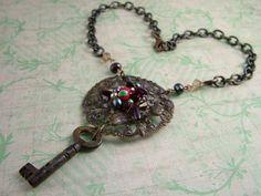 Secret Key Necklace by SparkleyJem on Etsy, £38.00