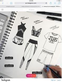 Pin by renee alanko on illustrations Fashion Sketchbook, Fashion Sketches, Croquis Fashion, Flat Drawings, Flat Sketches, Fashion Design Template, Fashion Templates, Sport Chic, Sketch Inspiration