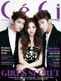 韓国雑誌 CeCi(セッシ) 2012年11月号  東方神起 少女時代のソヒョン 中央