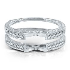 1/3 ct. tw. Diamond Solitaire Ring Enhancer in 14K Gold available at #HelzbergDiamonds