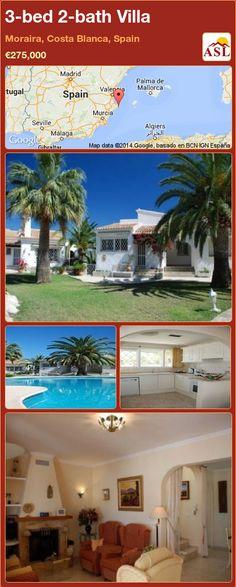 3-bed 2-bath Villa in Moraira, Costa Blanca, Spain ►€275,000 #PropertyForSaleInSpain