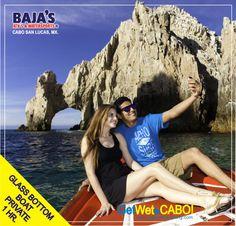 Disfruta el Paseo Privado a El Arco de #CaboSanLucas!  Enjoy the Private Tour to The Arch of #CaboSanLucas!  #Bajaswatersports #Glassbottomboat www.bajaswatersports.com