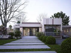 home by egmdesigns Single Floor House Design, Modern Small House Design, Home Design Floor Plans, Small Modern Home, Flat Roof House, Facade House, Single Storey House Plans, Small Villa, Modern Bungalow House