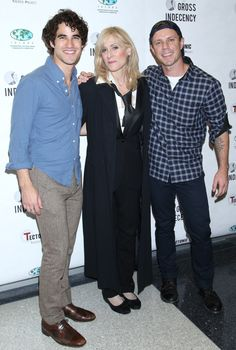 Darren Criss, Jake Shears and Judith Light attend the 'Gross Indecency: The Three Trials Of Oscar Wilde' after party at John Jay College on October 5, 2015 in New York City.