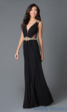 Long Sheer Back V-Neck Gown JVN31410 from JVN by Jovani - Brought to you by Avarsha.com