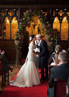 Amy and Nicholas' wedding was pure magic. They created an otherworldly atmosphere with dramatic styling and décor. They envisioned a rich and rustic day with Peckforton Castle, Luxury Wedding Decor, Harry Potter Wedding, Platinum Wedding, Halloween Fashion, Italy Wedding, Wedding Inspiration, Wedding Ideas, Wedding Styles