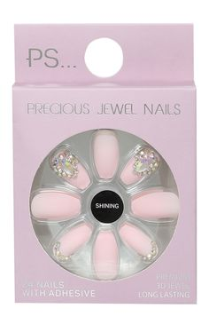 acrylic nail art pink Simple - The most beautiful nail designs Claire's Fake Nails, Claire's Nails, Fake Nails For Kids, Glue On Nails, Cute Nails, Toenails, Take Off Acrylic Nails, Best Acrylic Nails, Acrylic Nail Art