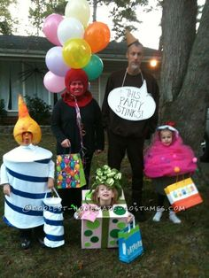 """Original Family Costume Idea: """"Party of Five""""... Coolest Homemade Costumes"""