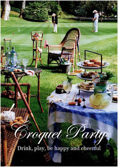 Looking for the best outdoor birthday party themes for adults? Celebrate in style with these easy but impressive outdoor party ideas! Croquet Party, Lawn Party, Tea Party, Adult Party Themes, Birthday Party Themes, 50th Birthday, Outdoor Parties, Outdoor Entertaining, Garden Parties