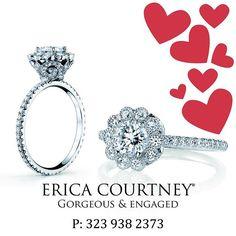 Make this the most memorable valentines day by giving her something she can keep forever jewelry@ericacourtney.com #gorgeousandengaged #ericacourtney #weddingday #weddinginspiration #bridal #DreamWedding #SheSaidYes #dropdeadgorgeous #jewelrydesign #diamond #diamonds #engagementring #engagement #diamondring #custom #ring #bridetobe #shesaidyes #sayyes #ido #bride #wedlux #theknot #wedding #love #ringoftheday #dreamring #losangeles #finejewelry #oneofakind