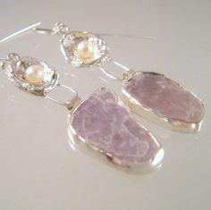 Asymmetrical Eco Friendly  Dangle Earrings by laurastamperdesigns, $95.00