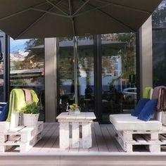 The Farm in Frankfurt mit Möbeln aus Paletten und Außendielen aus WPC  MYDECK® GmbH - Videos - Google+