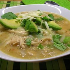 Healthy Soups and Stews: Michelle's Blonde Chicken Chili Chili Recipes, Soup Recipes, Chicken Recipes, Cooking Recipes, Healthy Recipes, Healthy Food, Healthy Soups, Bean Recipes, Healthy Chicken