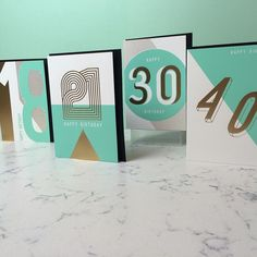 And just because I love this range so much here it is again!  #mint #instadesign #velvetolive #gold #minimal #geometric #foilblocking #foil #design #graphicdesign #screenprint #retail #wholesale #greetingcard #happybirthday #30thbirthday #40thbirthday #21stbirthday #18thbirthday #marble