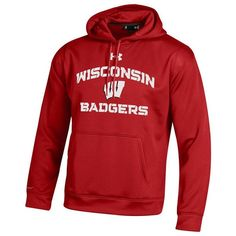 Men's Under Armour Wisconsin Badgers Tech Hoodie ($70) ❤ liked on Polyvore featuring men's fashion, men's clothing, men's hoodies, multicolor, under armour mens hoodies, mens hoodies, mens hooded sweatshirts, mens hoodie and mens sweatshirts and hoodies
