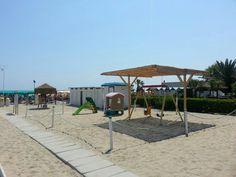 Parco giochi spiaggia privata hotel roya