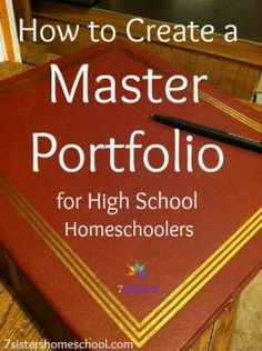 How to Create a Master Portfolio for Homeschool High School Student How to Create a Master Portfolio for a Homeschool High School Student - Earn College Scholarships High School Transcript, High School Curriculum, Homeschool Transcripts, Homeschool Curriculum, Student Portfolios, High School Years, School Resources, School Tips, School Ideas