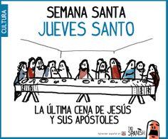 Jueves santo, la última cena. Semana Santa España, pascuas