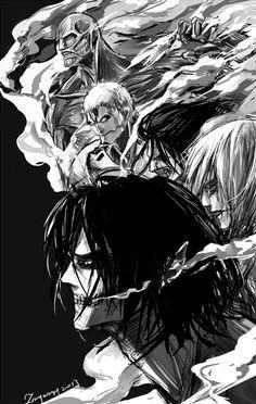 Attack on titan. 進撃の巨人. Shingeki no Kyojin. Anime. Illustration. Атака титанов. #SNK. #AOT
