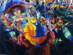 Umberto Boccioni, La Risata, 1911 [Le Rire] Huile sur toile, x cm The Museum of Modern Art, New York Umberto Boccioni, Italian Futurism, Oil On Canvas, Canvas Art, Italian Painters, Art Database, Sgraffito, Italian Art, Museum Of Modern Art