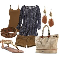 Brown and Blue, created by miranda7rose on Polyvore