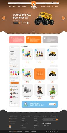 Kids - Child Friendly Toys, Clothes & Accessories Store PSD Template
