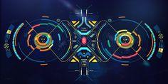 Alien-ish Interface practice on Behance
