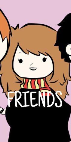 Parte 2 Fondo para tres amigos/as potterheads