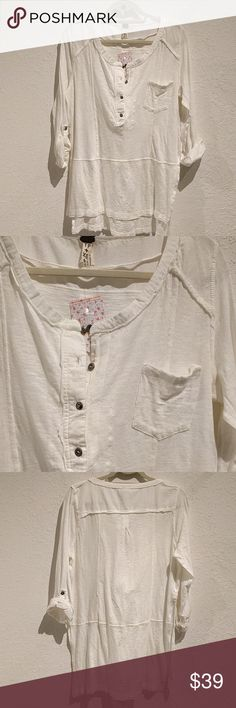 FREE PEOPLE COTTON TUNIC This is a stylish Free People cotton tunic Free People Tops Tunics