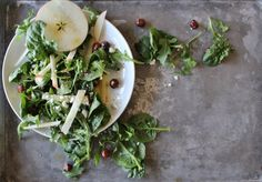 Honeycrisp + Arugula Salad with Maple + Mustard Vinaigrette