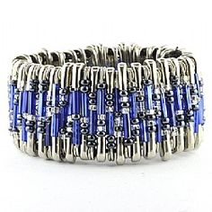 Safety Pin Bracelet Kit Blue - Love the Barbers Hill colors!