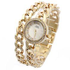 $35.99 (Buy here: https://alitems.com/g/1e8d114494ebda23ff8b16525dc3e8/?i=5&ulp=https%3A%2F%2Fwww.aliexpress.com%2Fitem%2F2016-New-Luxury-Women-s-Watch-Wrist-Watches-Analog-Quartz-Stainless-Steel-Band-Rhinestone-Bracelet-Double%2F32635871897.html ) 2016 New Luxury Women's Watch Wrist Watches Analog Quartz Stainless Steel Band Rhinestone Bracelet Double Chain for just $35.99