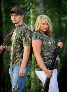 camo hunting guns pregnacy picture idea..  even though i cant stand him i love this picture maternity picture ideas